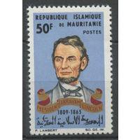 1965 Мавритания 250 100 лет Аврааму Линкольну