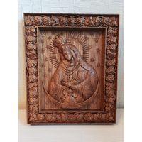 Остробрамская икона Божией Матери из массива дуба