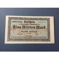 Германия,1 мил.марок 1923г. UNC.