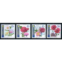 Цветы Гибралтар 2003 год серия из 4-х марок (М)