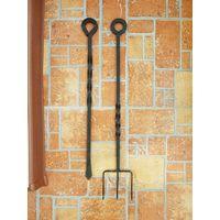 Каминные принадлежности / кованые, тяжелые / 50 и 45 см