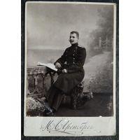 Фото офицера. Одесса. До 1917 г.  11х16 см.