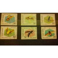 Пчелы, осы, насекомые, марки, фауна, Вьетнам, 1982