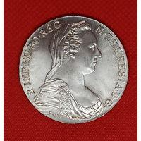 Монета талер 1780 года Мария Терезия. Рестрайк. Серебро.