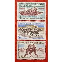 Сенегал. Спорт. ( 3 марки ) 1961 года.