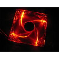 Вентилятор ExeGate 12025M12B/Red LED, 120x120x25mm, 20дБ, 1600об/мин! Новый!