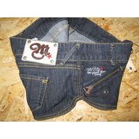Ультра-мини шорты джинсовые Mango, р.40