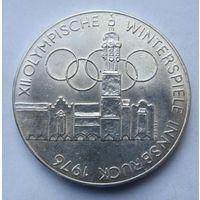 Австрия 100 шиллингов 1975 XII зимние Олимпийские Игры, Инсбрук 1976 - Здания и Олимпийская эмблема (отметка монетного двора Орёл - Халль-ин- Тироль)