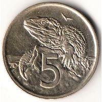 5 центов Новая Зеландия 1995 год