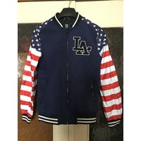 Бомбер куртка Американский флаг США 46 Суперская без утепления, на подкладке