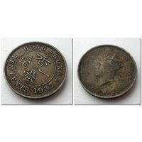 10 центов Гонконг 1937 год - из коллекции