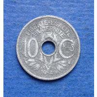 Франция 10 сантимов 1945 цинк