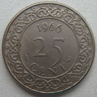 Суринам 25 центов 1966 г. (d)
