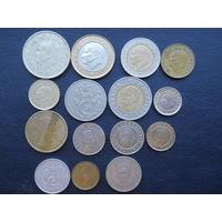 Монеты Турции. С 1 рубля.