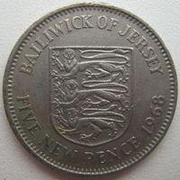 Джерси 5 пенсов 1968 г. (g)