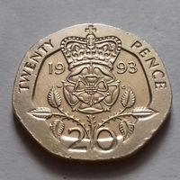 20 пенсов, Великобритания 1993 г.