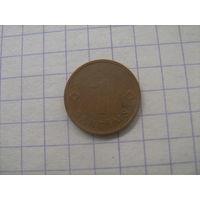 Латвия 1 сантим 1992г.km15