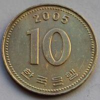 10 вон 2005 Корея