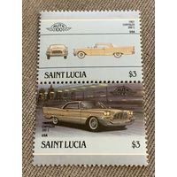Сент-Люсия. Автомобили мира. Chrysler 300C 1957. Марка из серии
