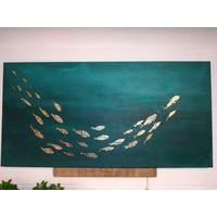"""Картина абстракция """"Рыбки"""" 50*100см."""