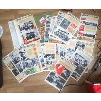 Комплект плакатов Высокая боевая выучка- ключ к Победе 20 штук 1981 год Цена за все