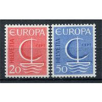 Швейцария - 1966г. - Европа - полная серия, MNH [Mi 843-844] - 2 марки