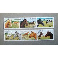 Марки Лошади Филиппины 1985 год серия из 6 марок