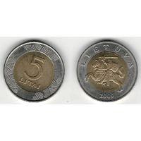W: Литва 5 лит 2009 (570)