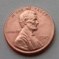 1 цент США 1989, 1989 D, AU