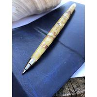 Янтарная ручка - шариковая-натуральный янтарь-балтийский-новая