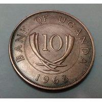 Уганда 10 центов 1968