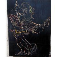 Панно Волк с гитарой из Ну погоди СССР