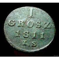 1 грош 1811 IS  отличное состояние,не чищена, родная патина