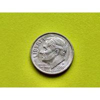 США. 10 центов (1 дайм) 2000 P (Roosevelt Dime).