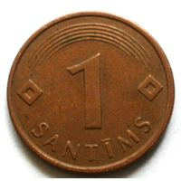 1 сантим 1997 Латвия