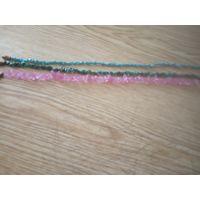Три нитки длиной 45,47,47см из мелких кусочков минералов для поделок