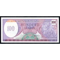 Суринам / SURINANE_01.11.1985_100 Gulden_P#128.b_UNC