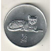 Северная Корея 1/2 чон 2002 Мир животных - Леопард