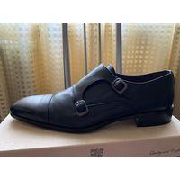 Итальянские новые полностью кожаные туфли