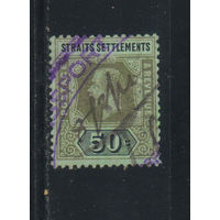 GB Колонии Малайя Стрейтс Сетлментс 1922 GV Стандарт Гашение тиснением Сингапур #185