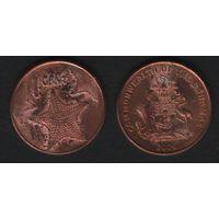 Багамы km218.1 1 цент 2006 год (f09)