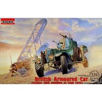 British armored car Pattern 1920 with sand tyres Rolls-Royce 1/35