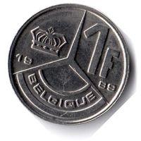 Бельгия. 1 франк. 1989 г. BELGIQUE