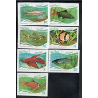 Рыбы Фауна Вьетнам 1987 год б/з серия из 7 марок