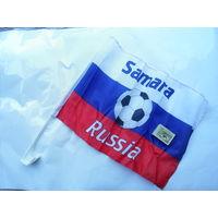 Флаг футбол ЧМ 2018 есть 8 городов Москва, Питер, Калининград, Сочи, Казань, Самара, Екатеринбург, Нижний