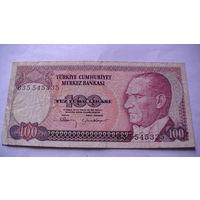 ТУРЦИЯ 100 лир 1984 года. 1 распродажа