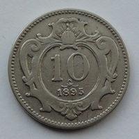 Австрия 10 геллеров. 1895