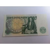 Англия 1 фунт 1978 год состояние UNC