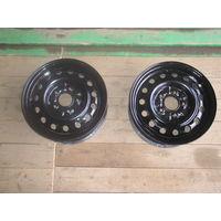 Комплект.колёсные диски R-14  5 болтов (штампованные)