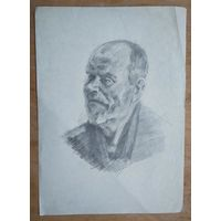 Крохалев Петр. Пожилой мужчина. 21х29 см. Рисунок. Бумага. карандаш